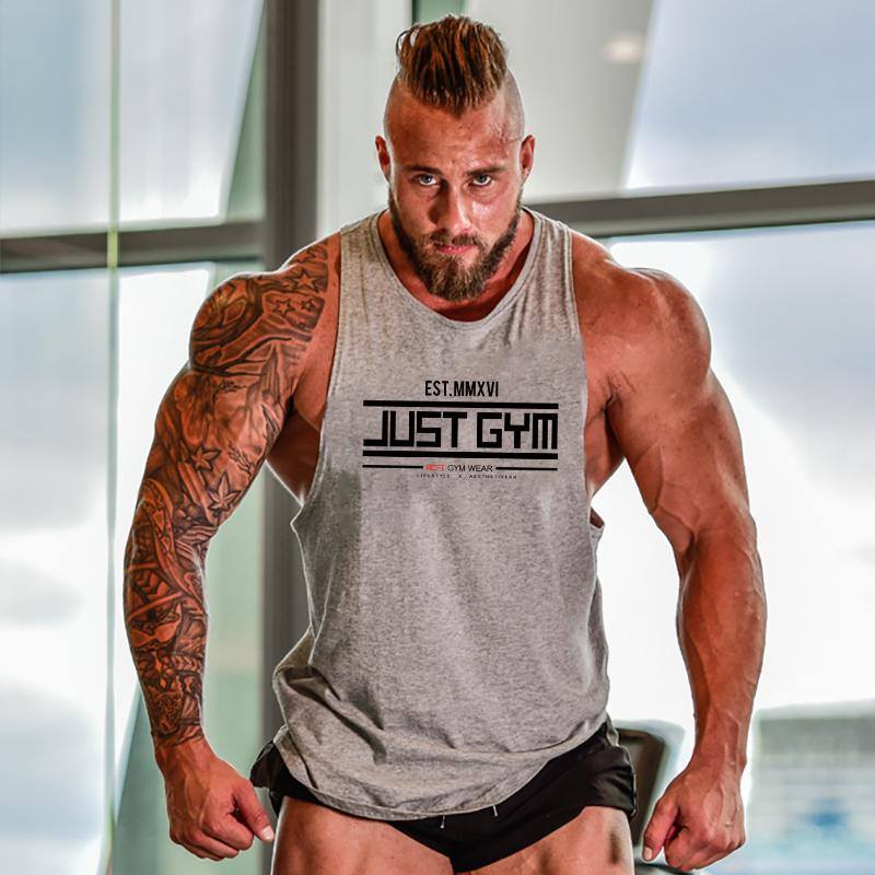 Muscleguys Musculação Stringer Regatas homens Gym Stringer shirt da aptidão Regatas Homens Formação Vestuário Cotton Vest