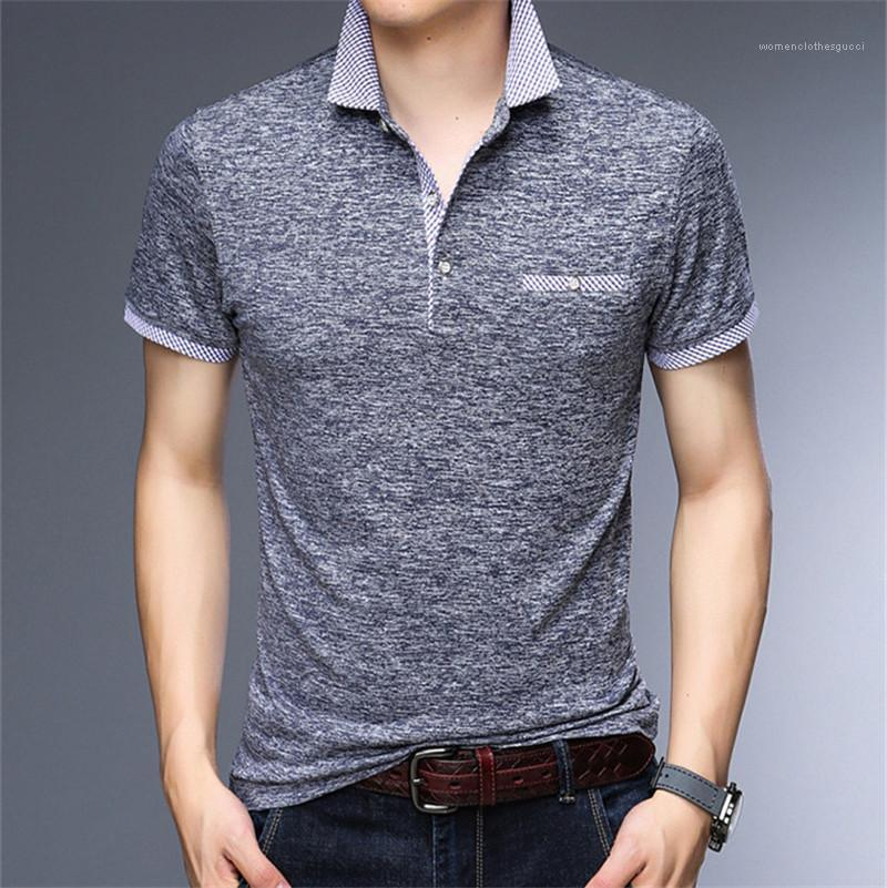 Collar Designer Mens Tshirts Summer Short Sleeve Pullover Mens Tops Casual Male Tops Stand