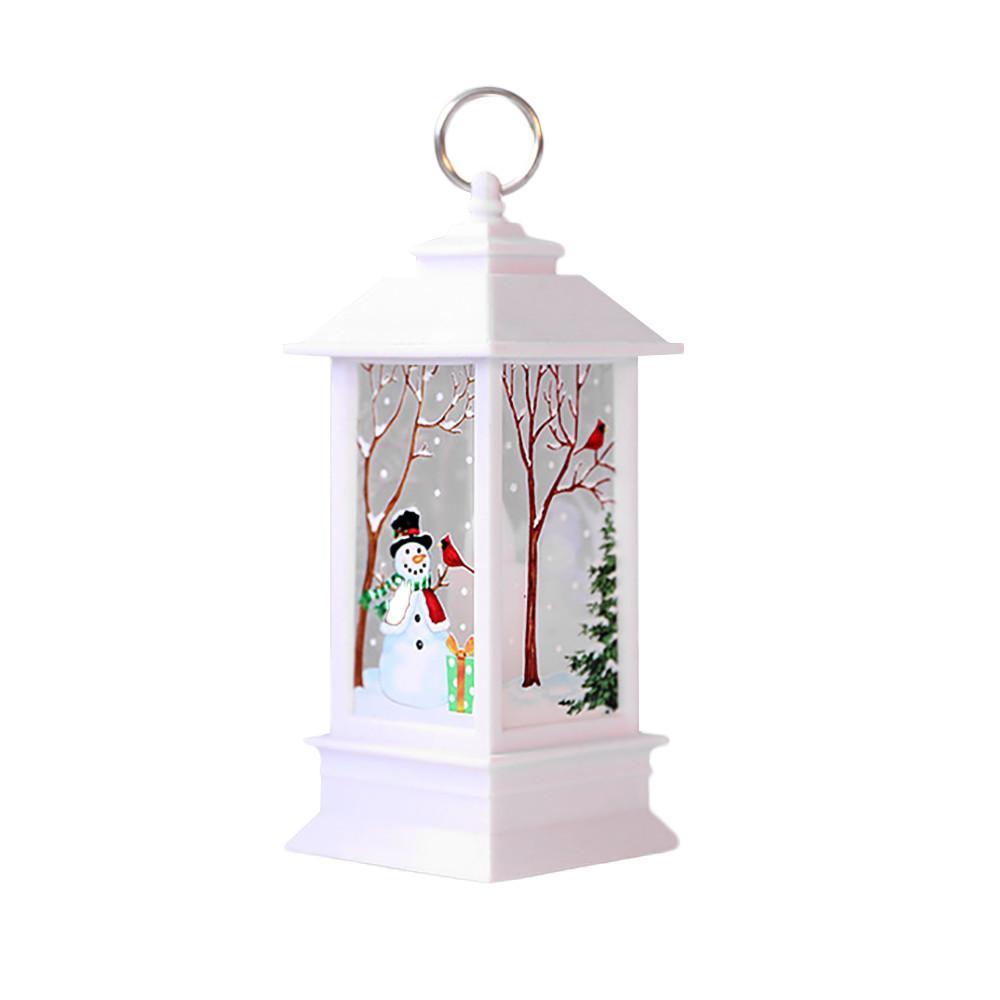 Tutucu LED Çay ışık Mumlar Kafesleri Elk Noel Baba Baskı Mum Noel Dekorasyon İçin Ev ile LED Noel Mum