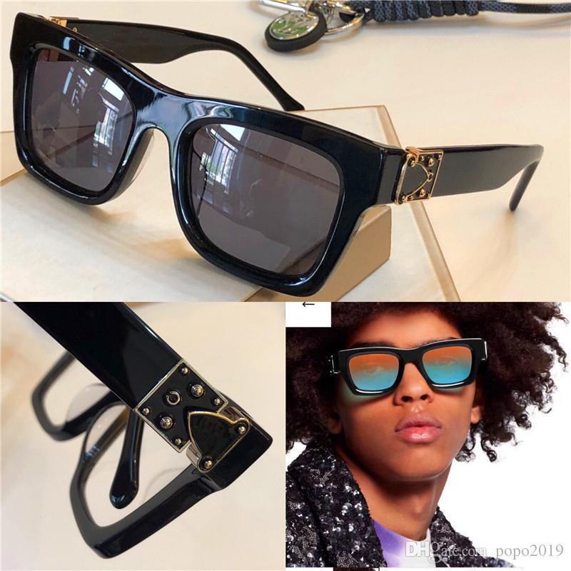 مصمم أزياء رجال نظارات شمسية 1245 مليونير إطار مربع صغير حماية في الهواء الطلق