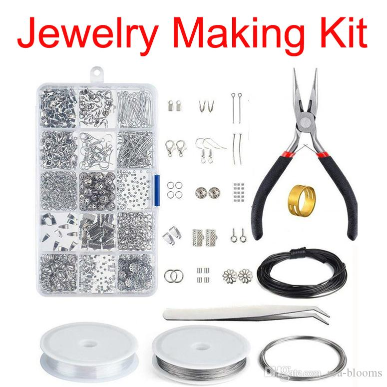 Silver Open Jump Ring and Lobster Clasps Jewelry Repair Tools Jewelry Making Supplies Kit for Necklace Making Repair Tools Accessories N78Y
