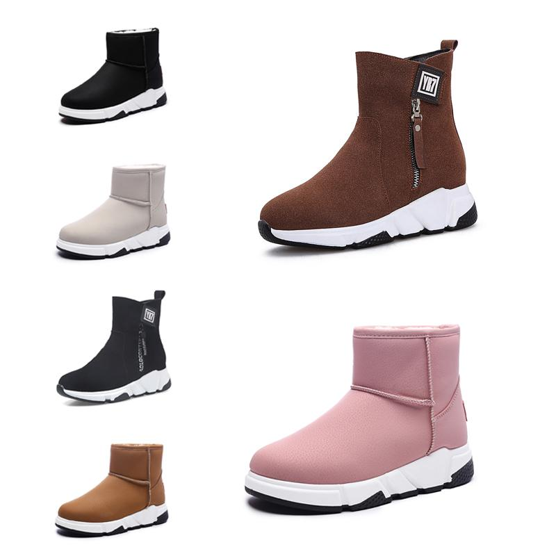 New Non-Brand fashion women boots Triple Black Red Beige Brown Suede winter snow ankle boots outdoor walking shoes 35-40 Style 14