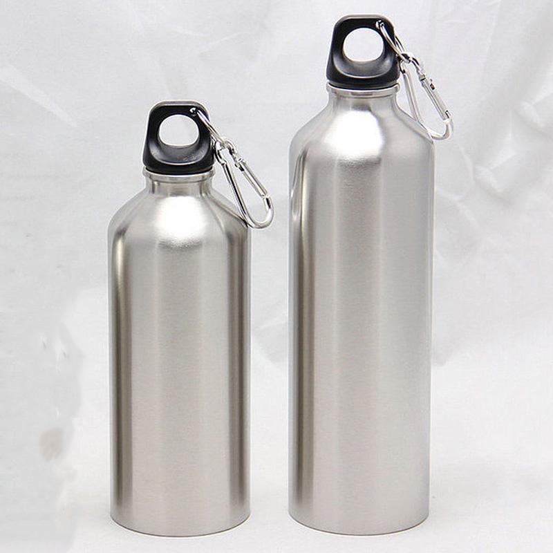 Новый 500 мл / 750 мл Щепка алюминиевые бутылки с водой колба двойной стены вакуумной изоляцией бутылки спорт путешествия восхождение пешие прогулки