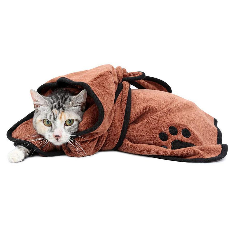 Cane morbido accappatoio rapidamente assorbendo l'acqua in fibra di animali tovagliolo di secchezza Robe con il cappello Pupuy domestico del gatto governare rifornimenti