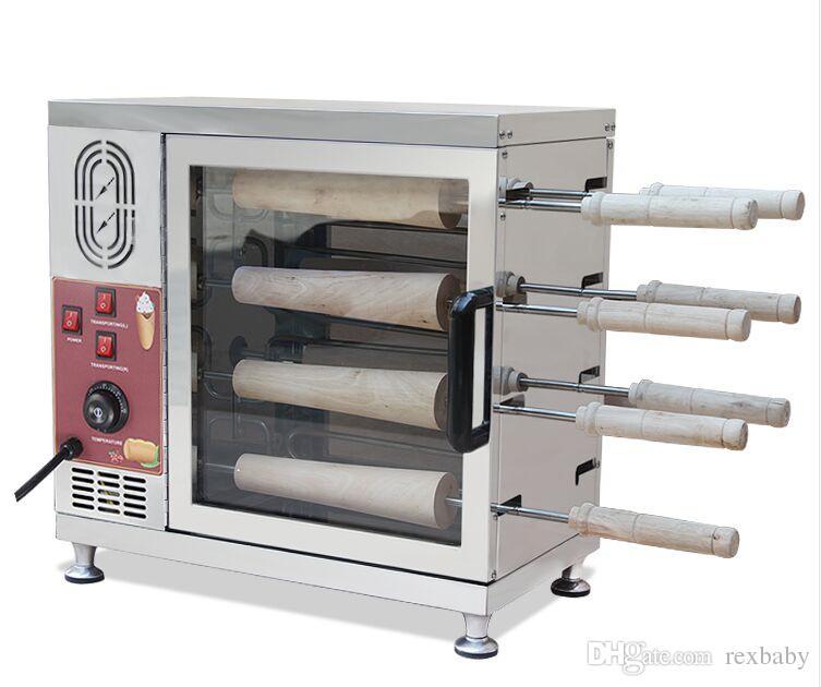 Elétrica 110V 220V Chimney bolo donut padaria máquina; Kurtos Kalacs Máquina De Forno Maker