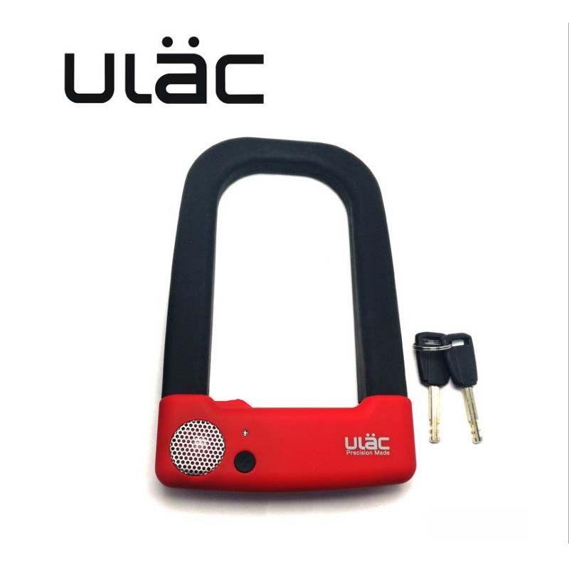 ULAC Bicycle Lock Anti-theft MTB Road Mountain Bike Steel U-lock Set with 2 Keys Bicycle Motorcycle Accessories Bike Lock