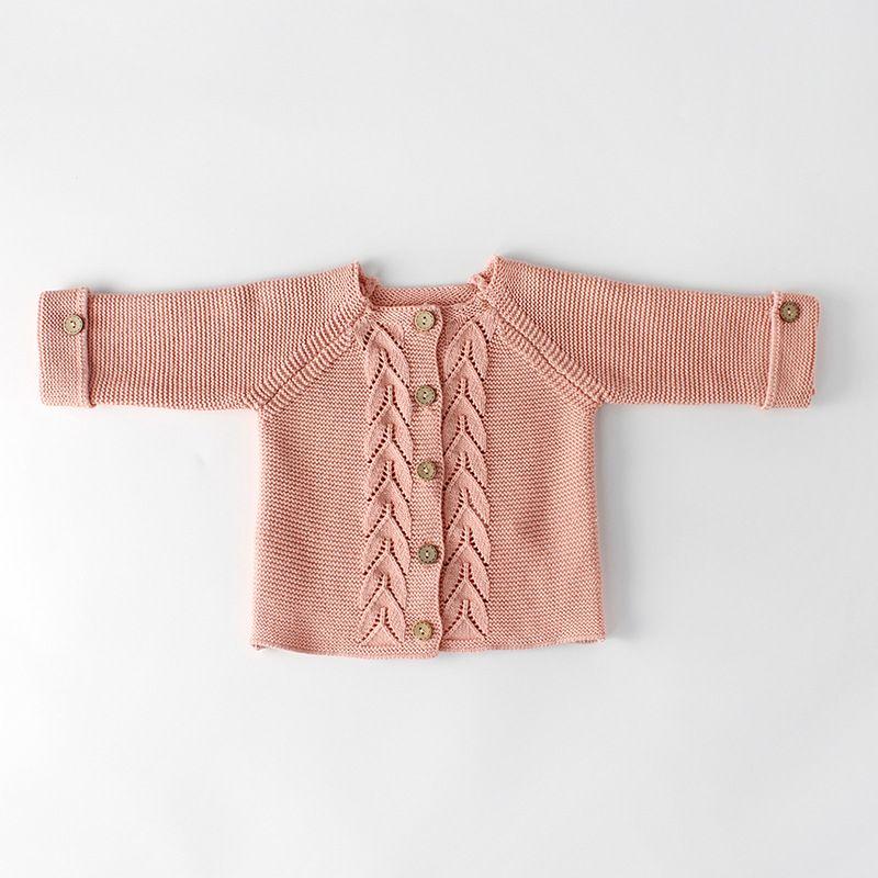 Autumn Spring Crochet Baby Cardigan Long Sleeve Toddler Cute