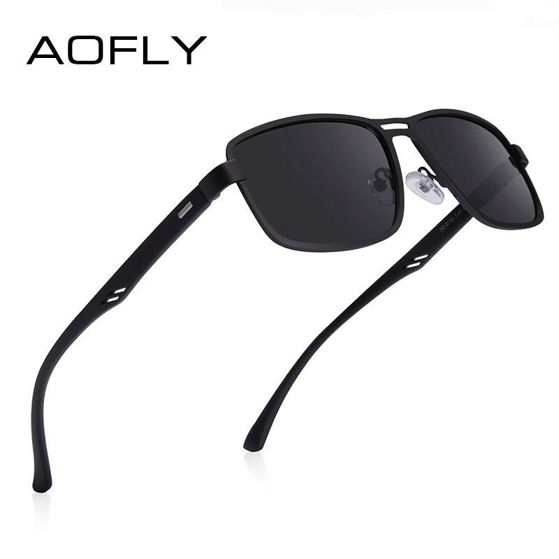 AOFLY Marca 2020 Moda Polarized Men Sunglasses Praça Metal Frame masculinos óculos de sol Condução Pesca Eyewear zonnebril heren