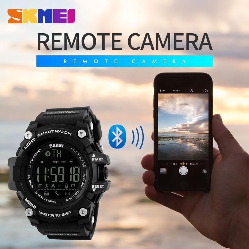 Berühmte Marken-Mann-Digital-Armbanduhr Smart Watch großes Zifferblatt Mode Sportuhr Outdoor Smartwatch Sport-wasserdichter Mann Uhr