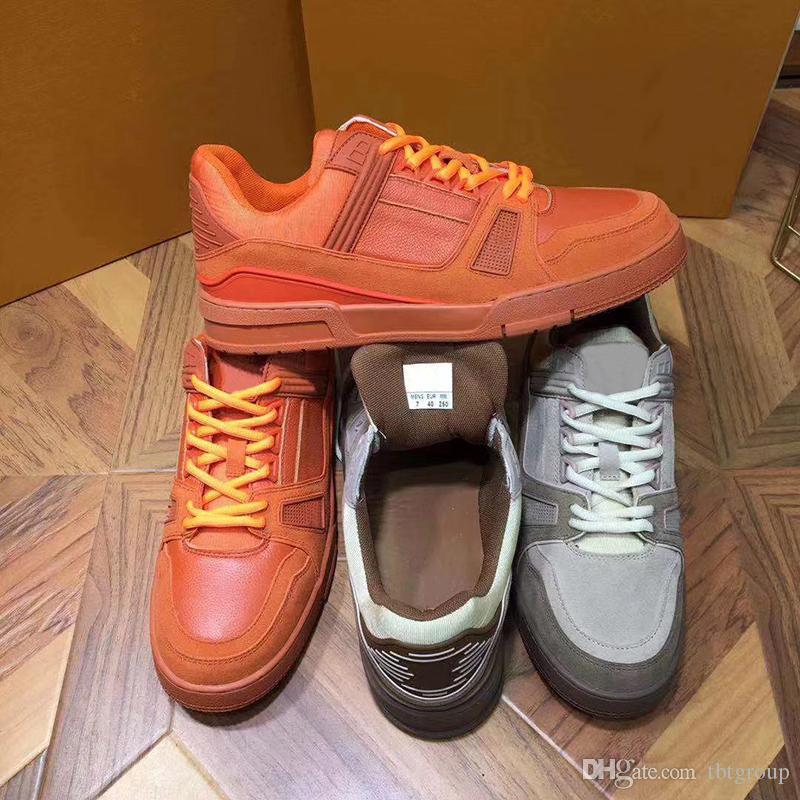 Новый дизайнер кроссовок замши Mens трейнер марочное баскетбольные кроссовки Low Cut резиновая подошва ботинки US9-11