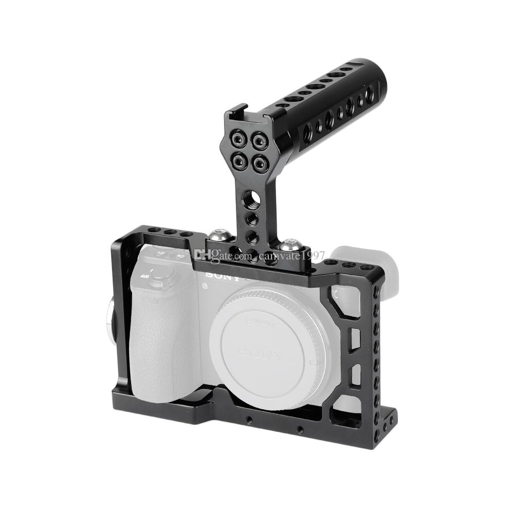 Happyshopping Adjustable Stand Camera Cage Handle Stabilizer for Sony A6300 Color : Black Black A6000,