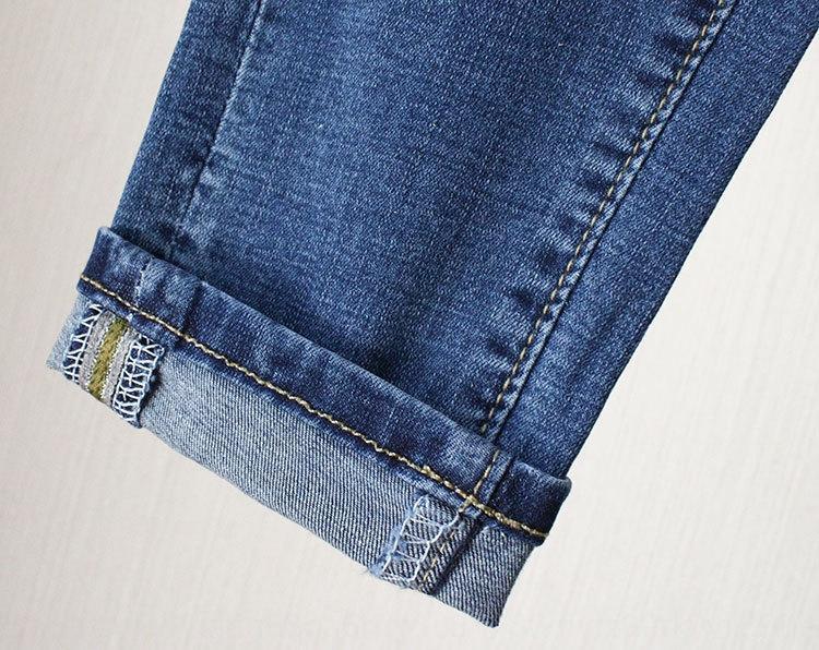 Tornozelo de comprimento 2019 Jeans lápis slim tamanho nova gordura mm plus plus primavera tight jeans calças chiques das mulheres calças lápis TkKF0