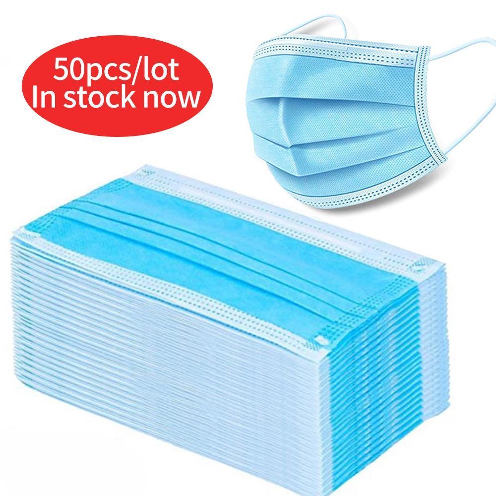 Защита Masque Одноразовая Нетканые Маски трехслойный фильтр Анти-пыль росток Рот Нос маска пыле маска с мешком