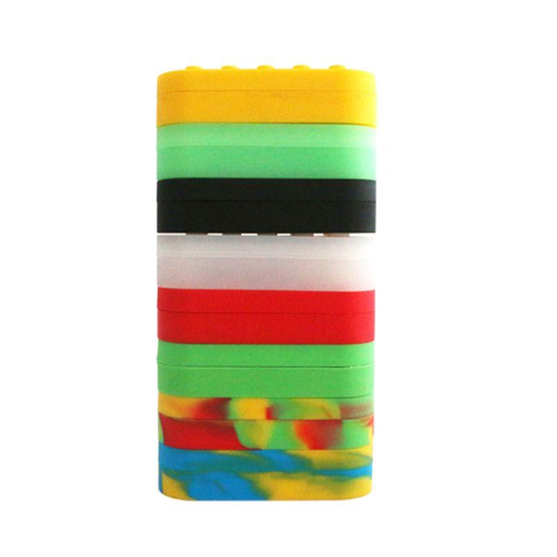 10pcs 7 em 1 Concentrado multi compartimento Silicone Container antiaderente Grande Lego Estilo Wax Creme Jar Dab Derrame de Petróleo frascos T200507