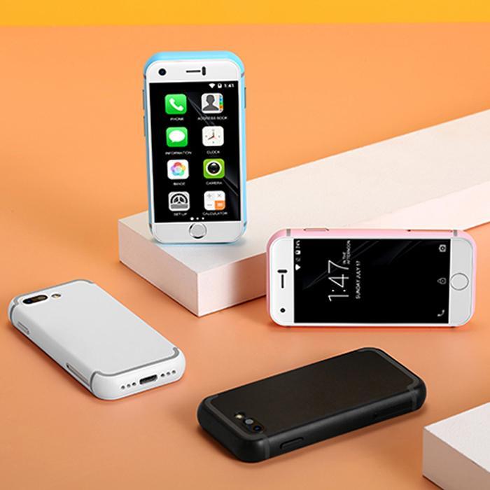 Actualizado 16GB Soyes 7S super mini teléfono inteligente de alta definición de 5.0 megapíxeles de la cámara de doble SIM WIFI BT cuatro núcleos smartfon Pequeño 3G táctil del teléfono celular para el estudiante
