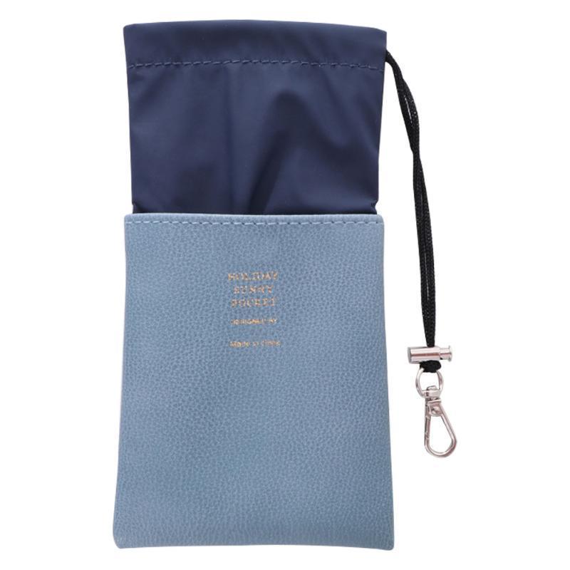 Hot Stamping PU cuir souple anti-poussière de protection Drawstring pochette de rangement Voyage Lunettes Sac Carry Case Lunettes étanche