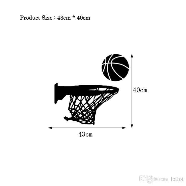 Creative Basketball Hoop Wall Sticker Living Room For Home