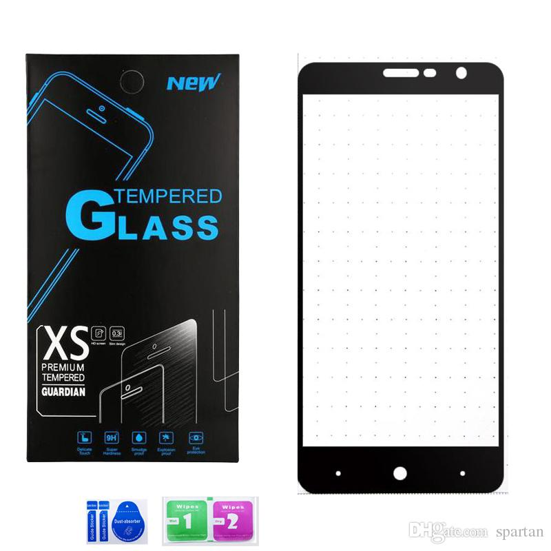 ZYS Screen Protector 100 PCS 9H 2.5D Tempered Glass Film for LG X max