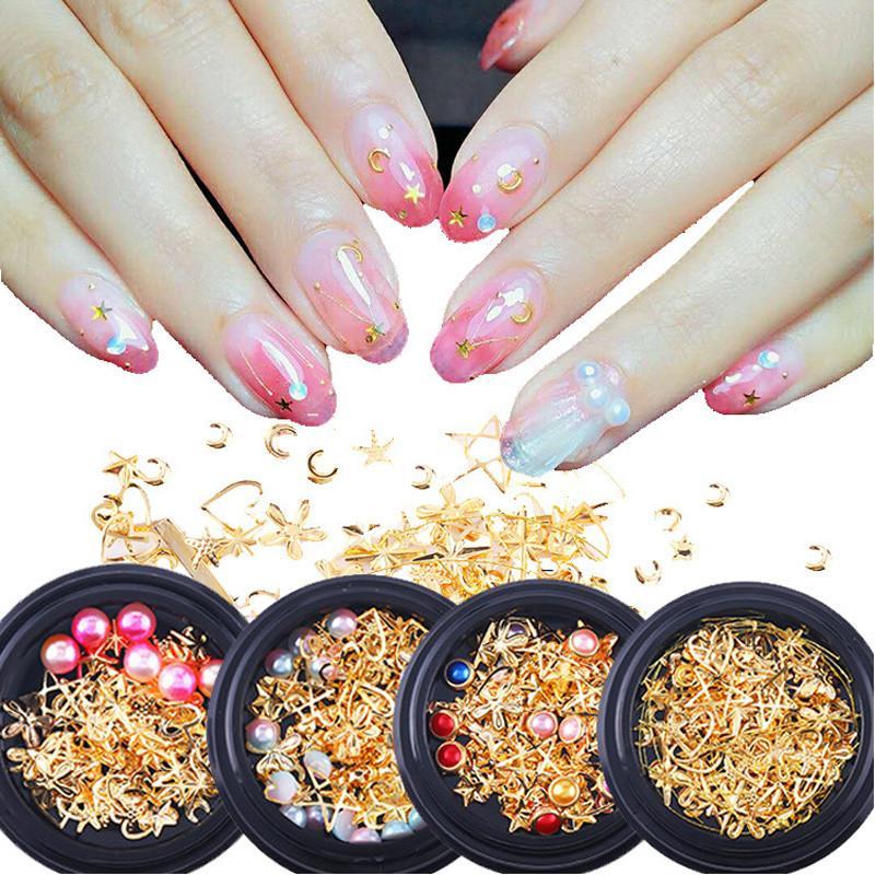 Compre Tamax Na038 Estilo Mixto Metal Nail Art Decoración Perla Rhinestones Uñas Piedras De Cristal Etiqueta De Manicura Accesorios Consejos