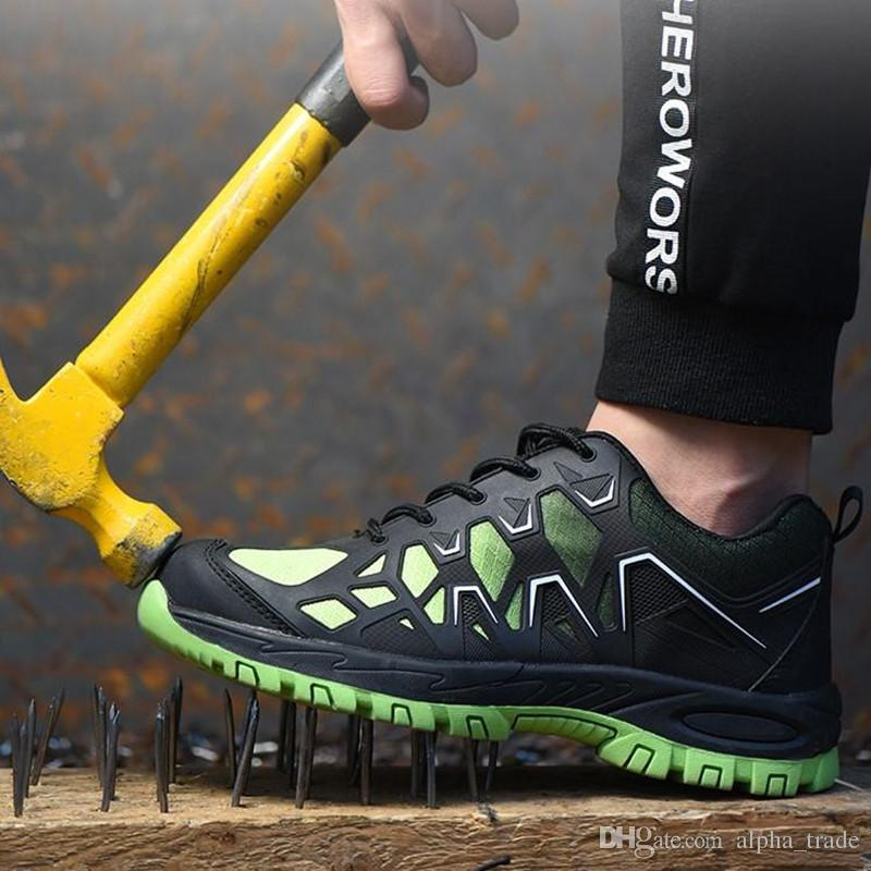 Hommes Steel Toe Chaussures de sécurité au travail Bottes de sécurité au travail Respirant Construction Chaussures de travail anti-crevaison Chaussures de sécurité de haute qualité