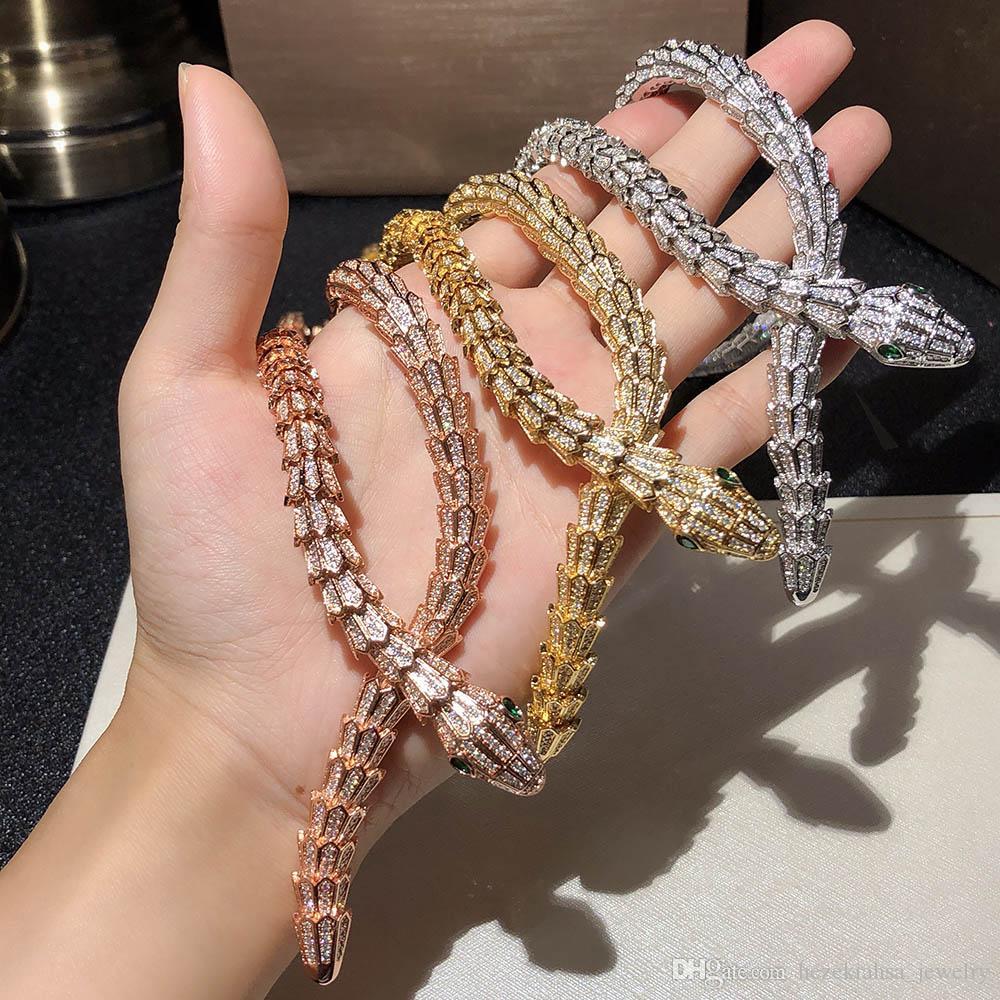 Python Halskette Top Hohe Qualität Schmuck für Frauen Schlange Anhänger Dicke Halskette Halskette Feine Benutzerdefinierte Luxuriöse Schmuck AAA Zirkon