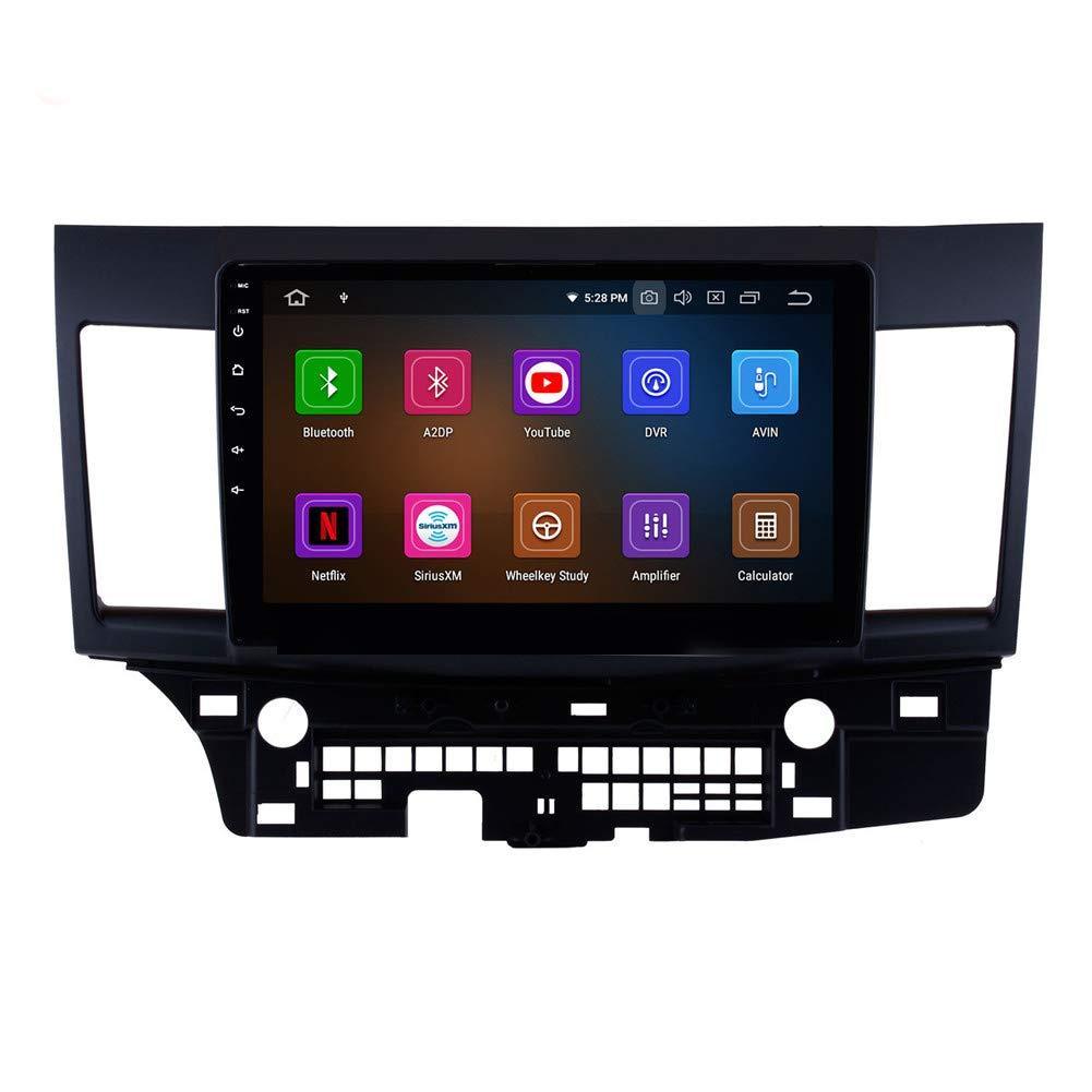 10.1 polegadas Android 9,0 Touchscreen Multimedia Player para Mitsubishi Lancer 2007-2015 com Bluetooth Wi-Fi Car Navegação GPS