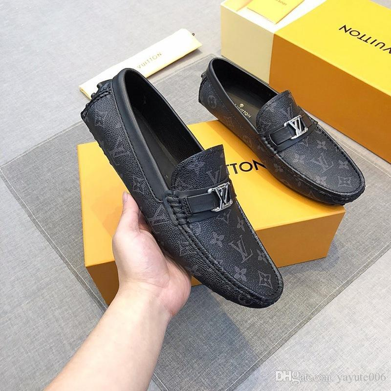 Newst Size 38 45 Fashion Real Leather Men Dress Shoes Pointed Toe Bullock Oxfords Shoes For Men, Lace Up Designers Brand Men Shoes