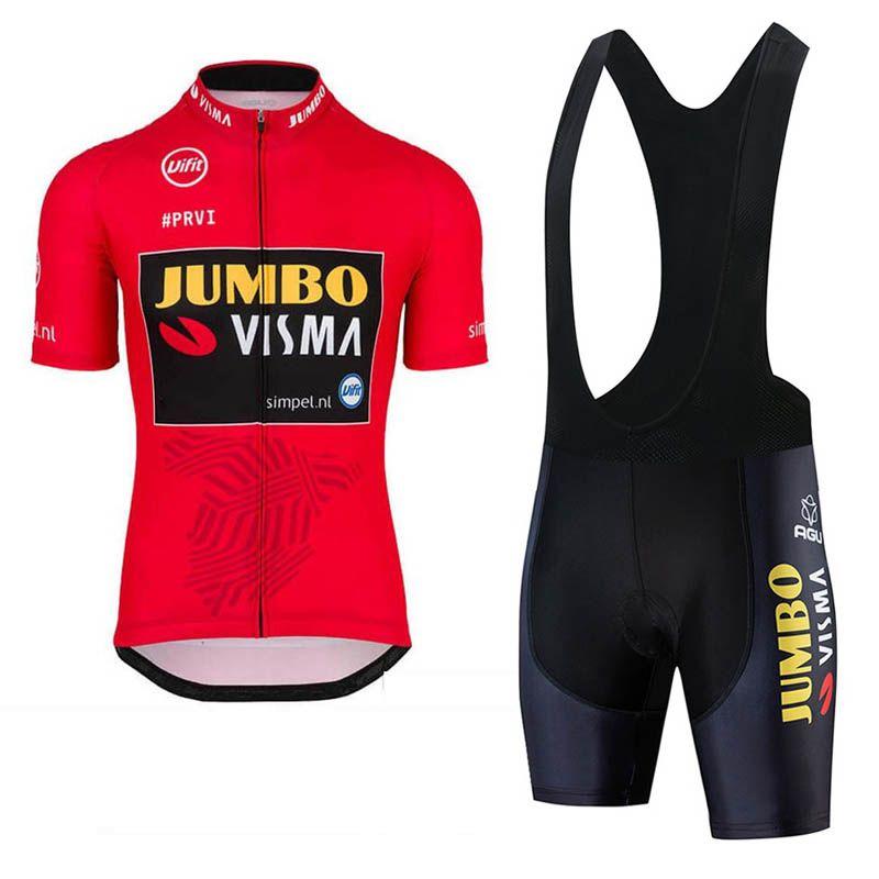 Mens Team Cycling Bib Shorts Cycling Jersey Bib Shorts Set Cycling Jersey