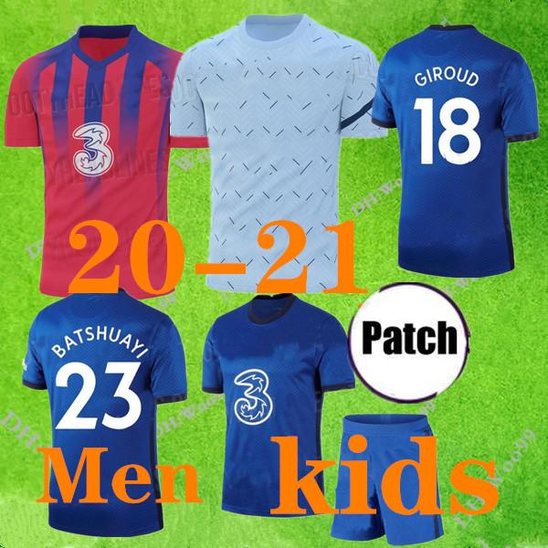 Top 2020 2021 PULISIC Futebol Giroud 2019 2020 2021 HIGUAIN JORGINHO casa FABREGAS morata PEDRO Kante MEN KIDS SETS camisas de futebol