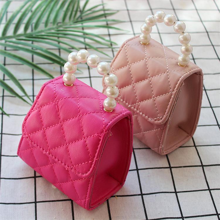 Çocuklar Tasarımcı Çanta Yeni Bahar Bebek Kız Mini Prenses Çantalar Güzel Inci Çekimler Yamuk Tote Kızlar Çapraz vücut Çanta B11