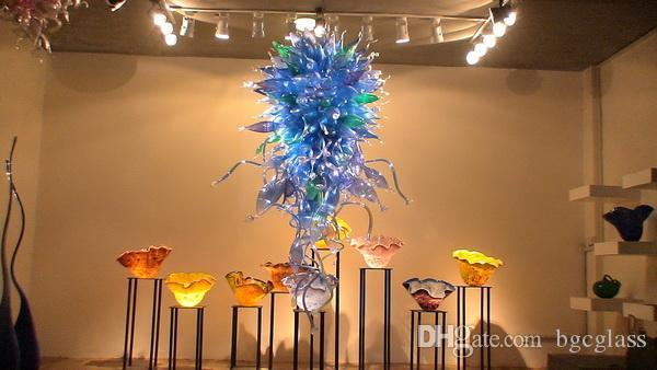 Современное искусство дизайн стеклянная люстра свет отель декор Дейл Чихули стиль ручной работы выдувное стекло подвесные светильники со светодиодными лампами
