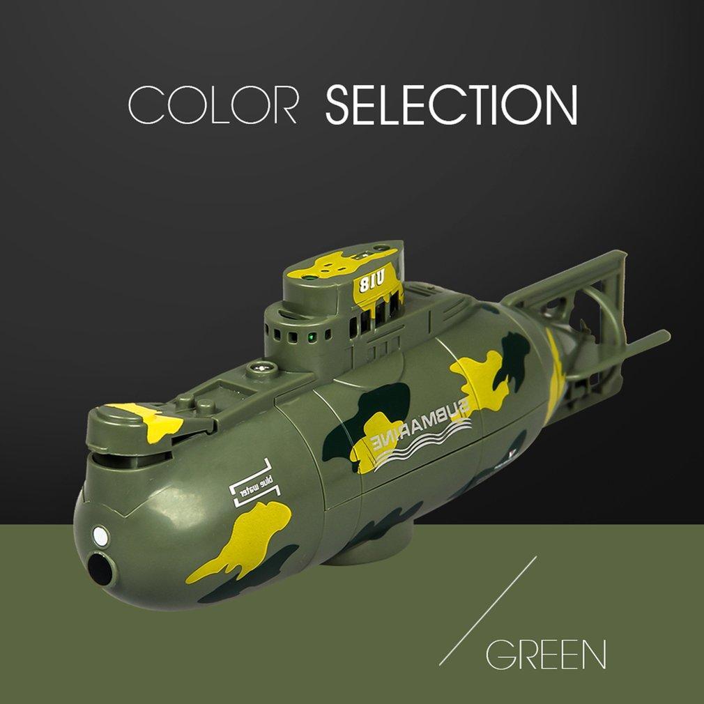 Wireless Mini RC Submarine Mergulho Floating Mini Submarine Crianças Verão Água Toy recarregável Simulação Controle Remoto Toy