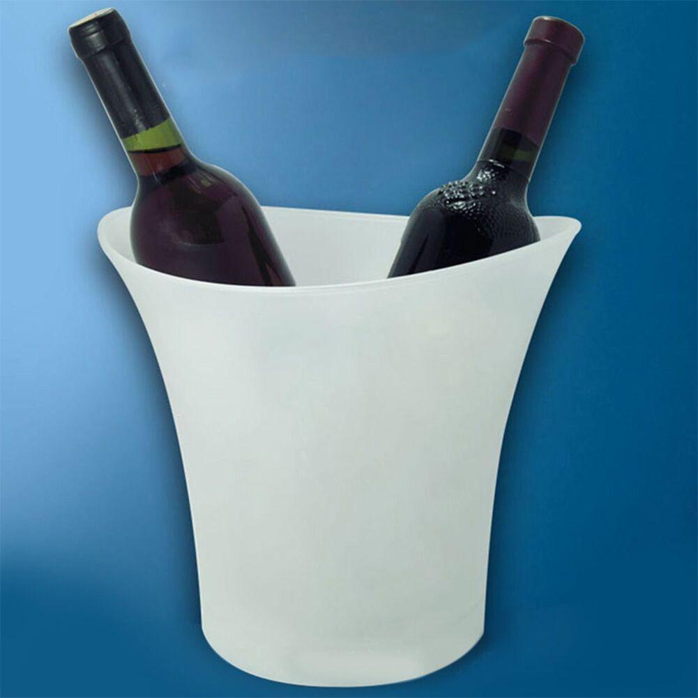 Random Color 5L Waterproof Plastic Ice Bucket Bars Nightclubs Light Up Champagne Beer Bucket Bars Night Party