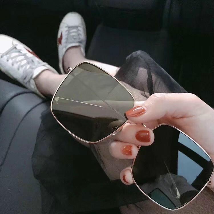 los hombres gafas de sol de la actitud de gafas de sol estilo vintage marco de metal cuadrada marco de oro de diseño exterior clásico modo de marco de metal de las gafas de sol para las mujeres