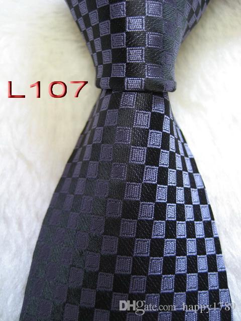 L107 # 100% Jacquard De Seda Artesanal Gravata Gravata Dos Homens