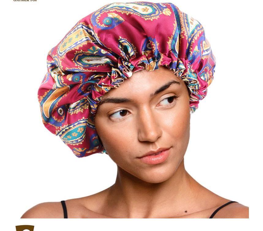 Yeni Tasarımcı Yumuşak Uyku Saç Kap Salon Bonnets Kadınlar için Rahat Çiçek Gece Uyku Şapka Saç Dökülmesi Cap Bonnet Bayanlar Türban S346
