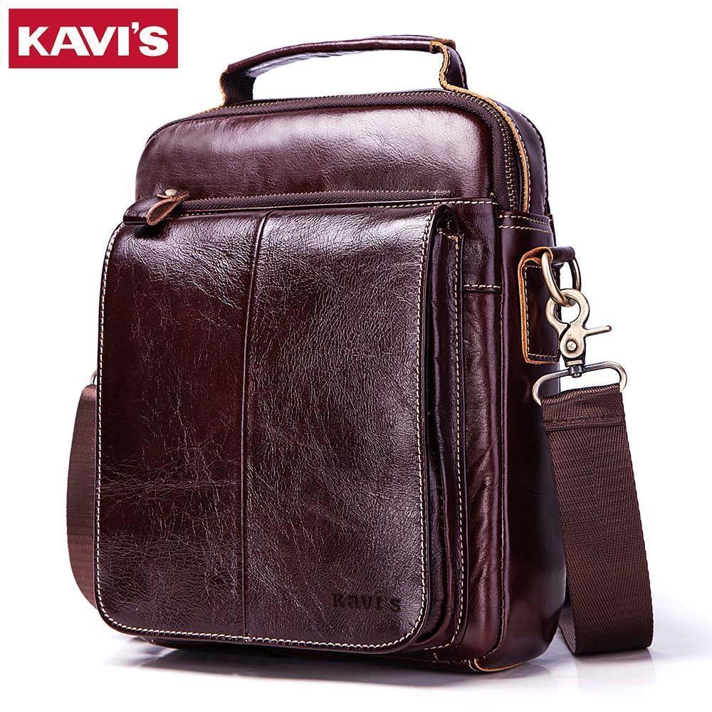 100% Cowhide Genuine Leather Original Messenger Bag Men Shoulder Bag Crossbody Handbag Bolsas Sling Chest Clutch For Male