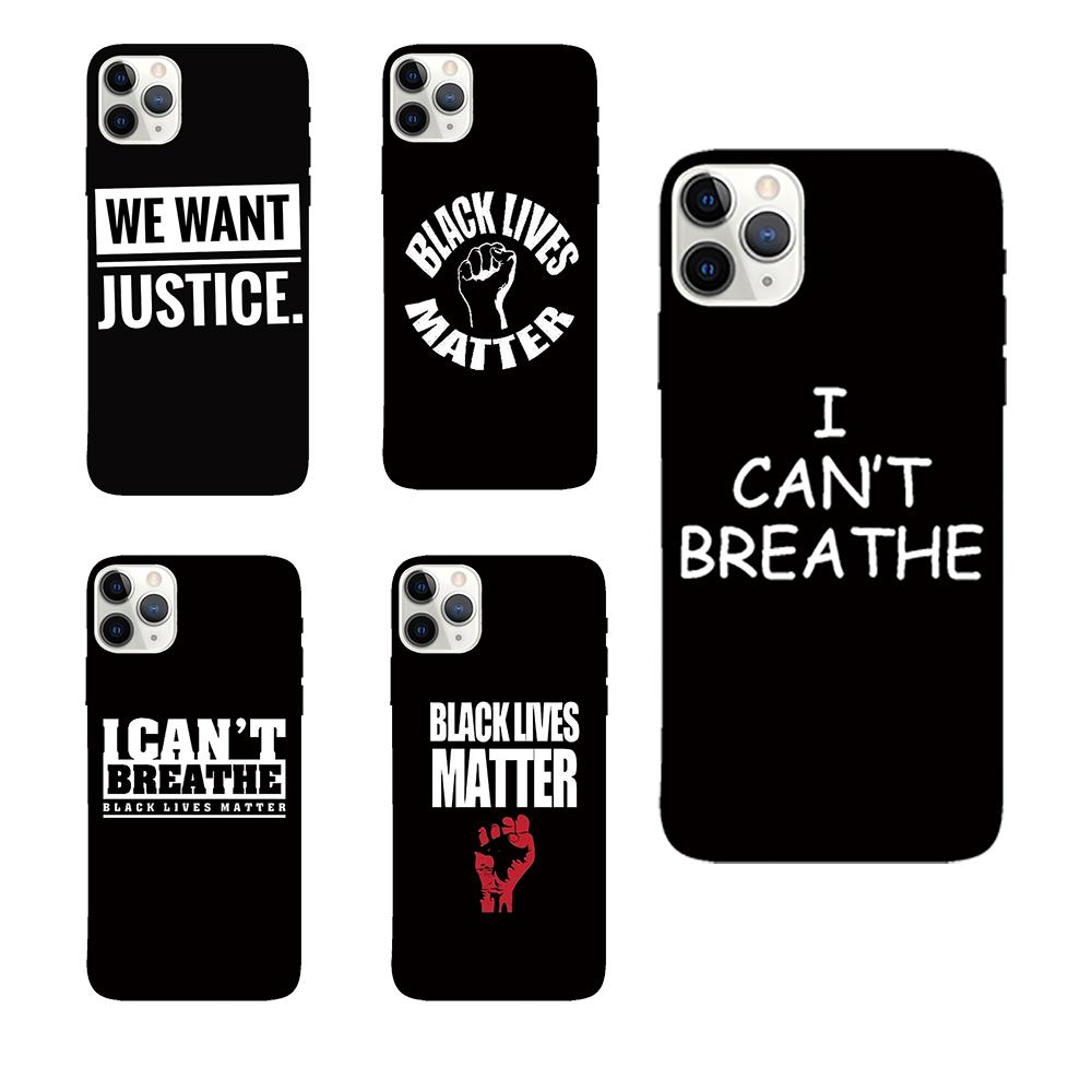 For Iphone 11 Pro Phone Case Xs Max Xr I Can't Breathe 7 8 X Plus English Black TPU Soft Cell Phone Cases