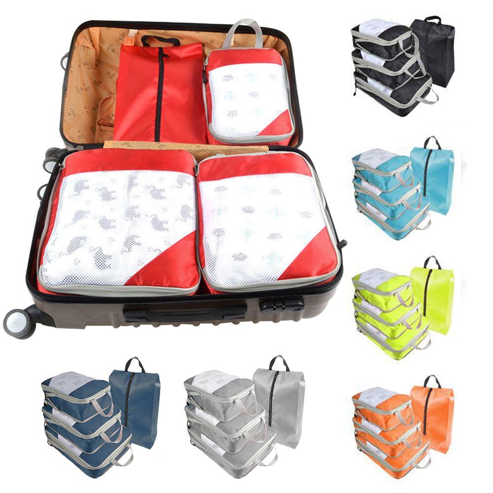 Travel Storage Bag Set for Clothes Luggage Packing Cube Organizer Suitcase 4Pcs