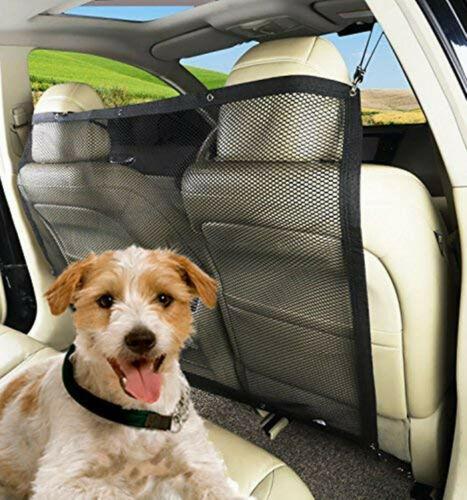 Haustier Hund Isolation Net Car Barrier Rücksitz Fahrzeug Hunde Net Safety Gate-Ineinander greifen