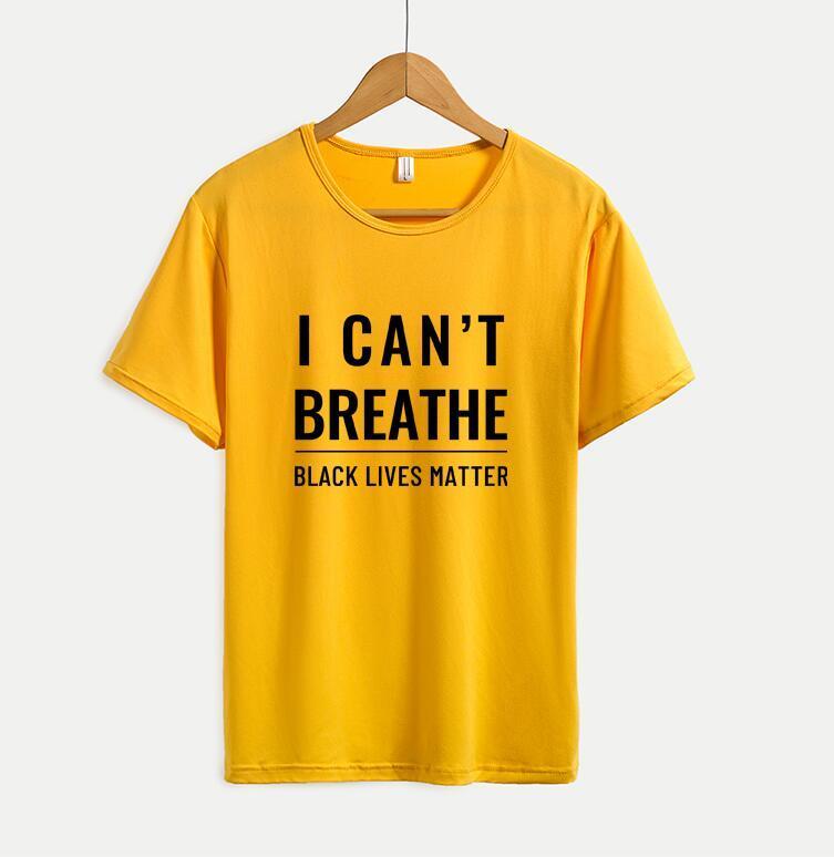 I Cant Breathe Tee shirts 20ss estate delle donne degli uomini delle magliette con lettere casuale di modo manica corta da uomo Tee shirts Top Formato più