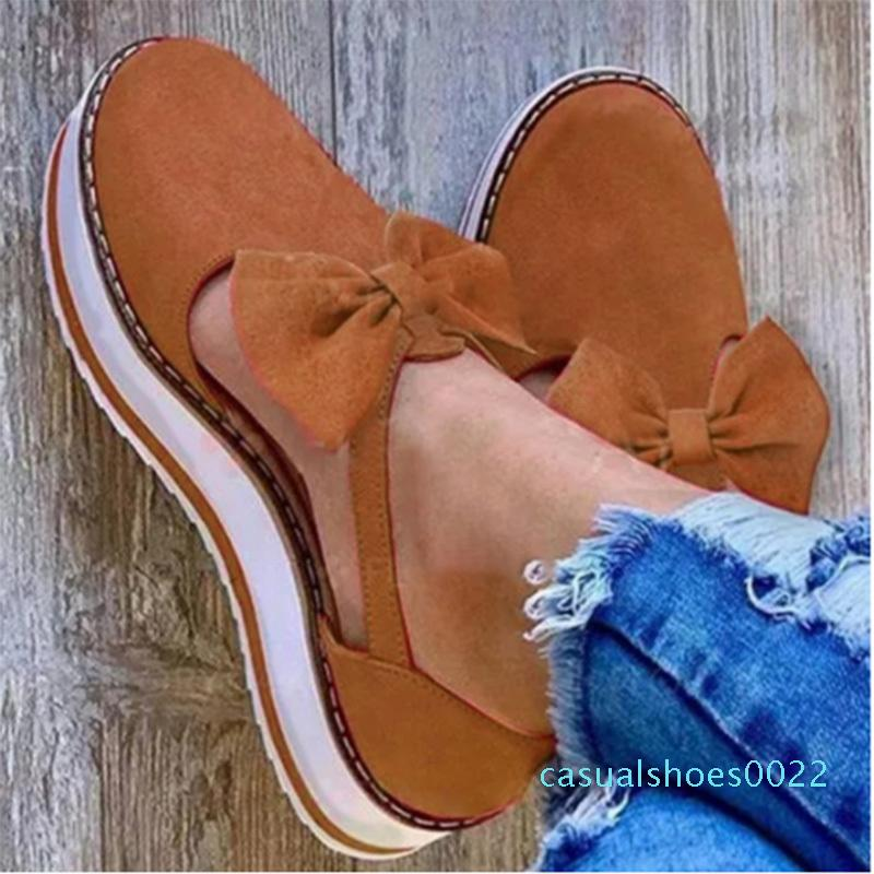2020 Verão Mulheres Sandálias Sapatos Feminino Nova Roma Confortável costura Bow Calçado Ladies Moda Casual Buckle Mulheres Plus Size c22