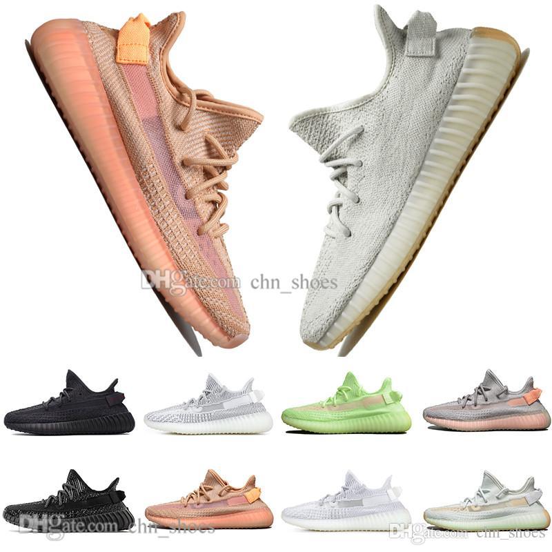 Kanye West Clay V2 statico riflettente GID Glow In The Dark scarpe da corsa da uomo Hyperspace True Form Donna Uomo Sports Designer Sneakers 36-48