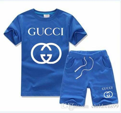 2019 HOT SELL New Style Children's Clothing For kids Boys And Girls Sports Suit Baby Infant Short Sleeve Clothes Kids Set 2t-9t oirere254