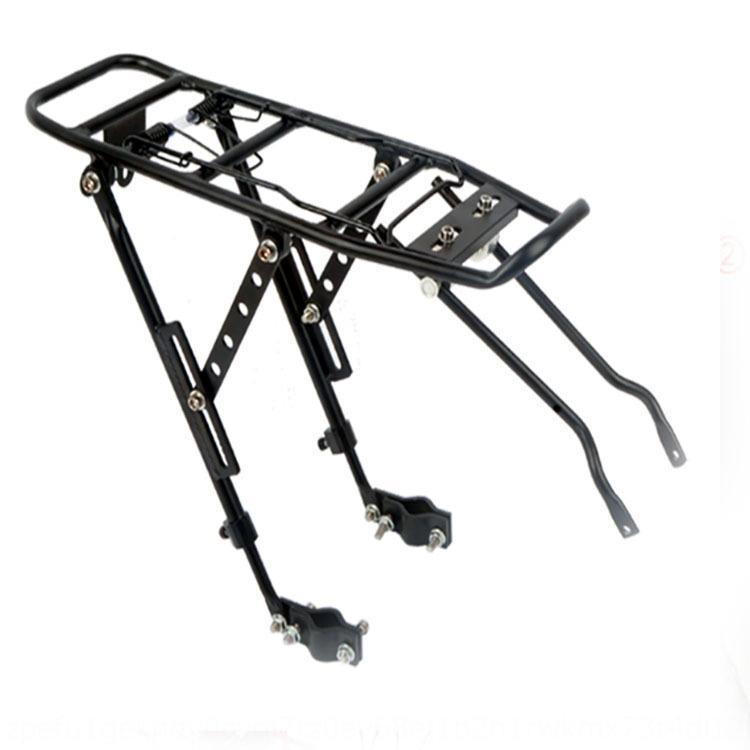 Porte bicyclette tablette arrière bicyclette arrière soit en alliage d'aluminium à bagages disque de frein frein de v peut cintre réglable khnNe