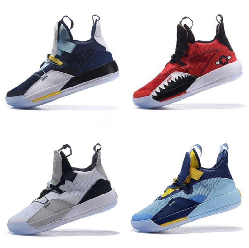 Yeni Geliş Erkek Jumpman XXXIII 33 Çimento Basketbol Ayakkabı 33s Multicolors Tech Paketi CNY Spor Eğitmenler Spor ayakkabılar Boyutu 40-46