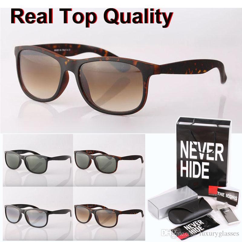 Nueva llegada Marca gafas de sol de los hombres de las mujeres tablón marco de la bisagra de metal UV400 lente de cristal de espejo con la caja original, paquetes, accesorios, todo!
