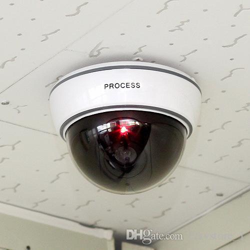 LED 센서 가벼운 더미 돔 가짜 카메라 실내 옥외 보안 보호를위한 감시 보안 카메라