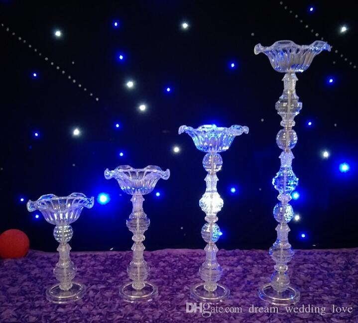Crystal Wedding Centerpiece Flower Stand Candle Holder Cake Stand crystal vase for Wedding Party Event Decoration WT099