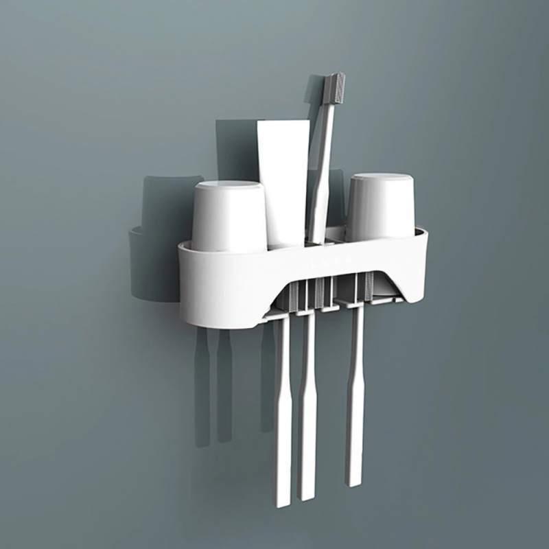 Supporto per spazzolino da parete Supporto per ventosa Gancio per spazzolino Spazzolino per denti Supporto per polvere Forniture per bagno per bambini